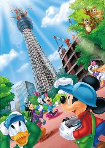 Tenyo Japan Jigsaw Puzzle T-1000-809 Disney Tokyo Sky Tree Welcome Mickey  (1000 Pieces)