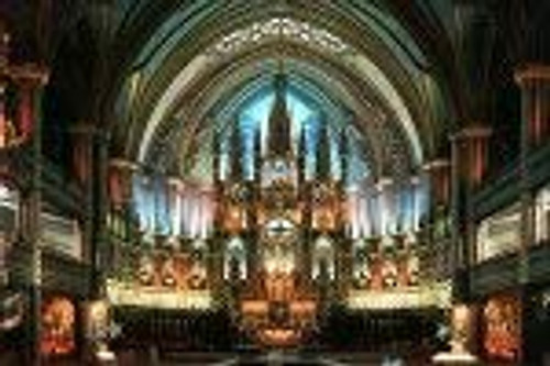 Yanoman Jigsaw Puzzle 10-552 Glow in the Dark Notre Dame de Montreal (1000 Pieces)