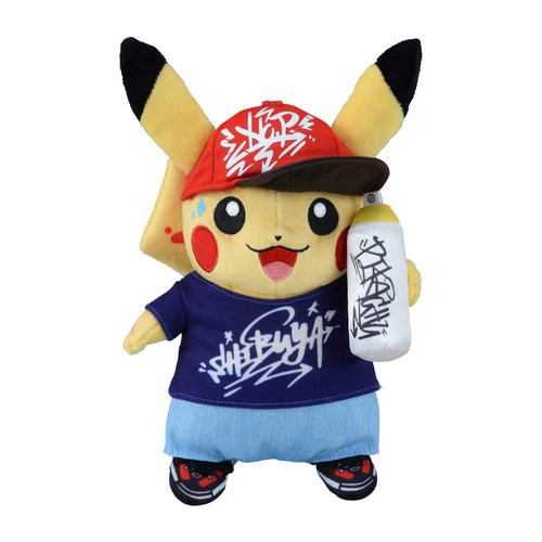 Pokemon Center Original Plush Doll Pokemon Center Shibuya Graffiti Art Pikachu Graffiti Artist