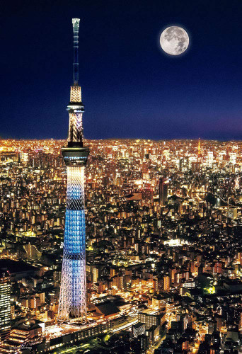 Beverly Jigsaw Puzzle 93-146 Tokyo Sky Tree Night View (300 Pieces)