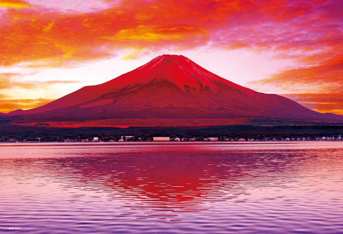Beverly Jigsaw Puzzle M81-586 Japanese Scenery Red Fuji Mountain (1000 S-Pieces)