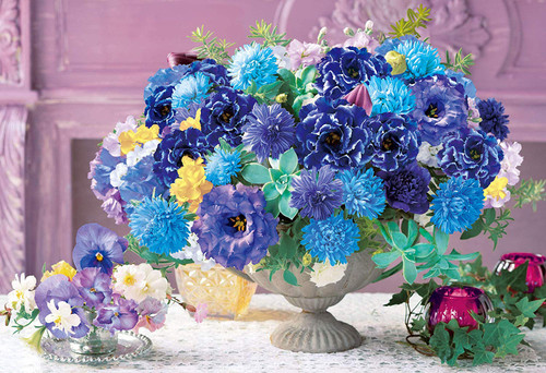 Epoch Jigsaw Puzzle 31-021 Relax Blue Flowers (1053 S-Pieces)