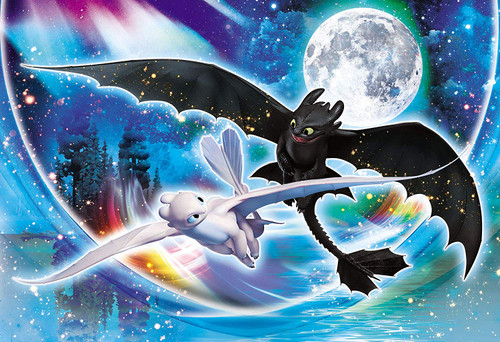 Epoch Jigsaw Puzzle 26-335s How to Train Your Dragon Fly Together (300 Pieces)