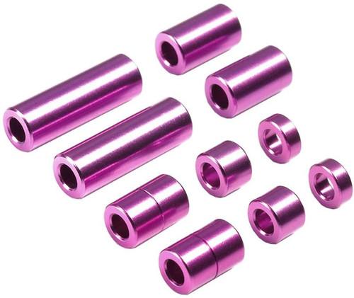 Tamiya 95520 Mini 4WD Aluminum Spacer Set (12/6.7/6/3/1.5mm, 2pcs. Each) Purple