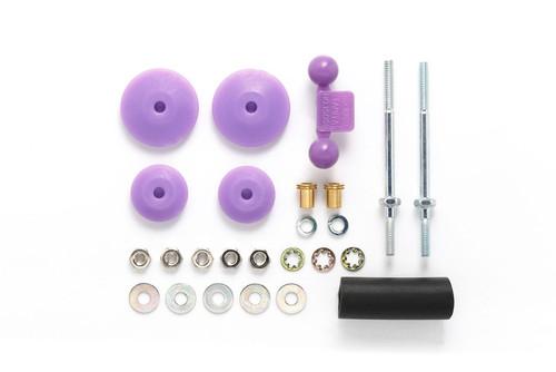 Tamiya 95518 Mini 4WD Large Dia. Stabilizer Head Set (11mm/15mm) (Purple)