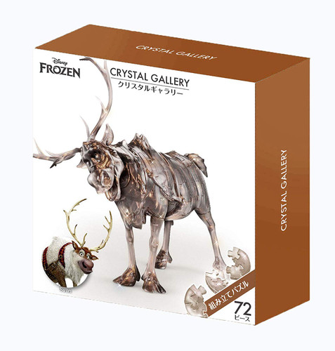 Hanayama Crystal Gallery 3D Puzzle Disney Frozen Sven 72 Pieces