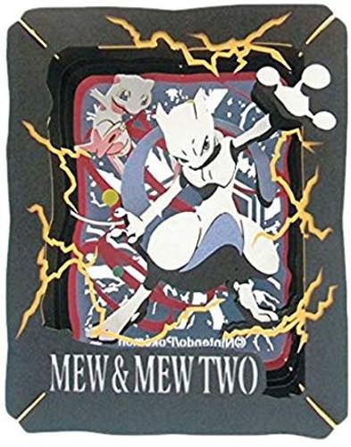 Ensky Paper Theater PT-072 Pokemon Mew and Mewtwo