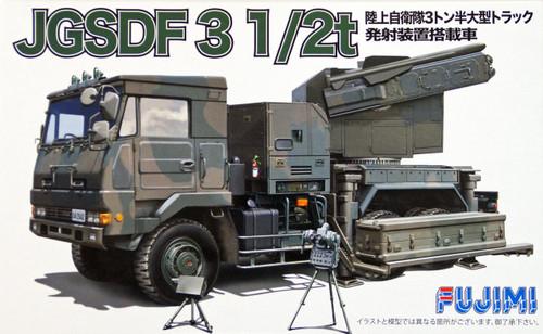 Fujimi 72M11 JGSDF 3 1/2t Truck with Launcher 1/72 Scale Kit 722405