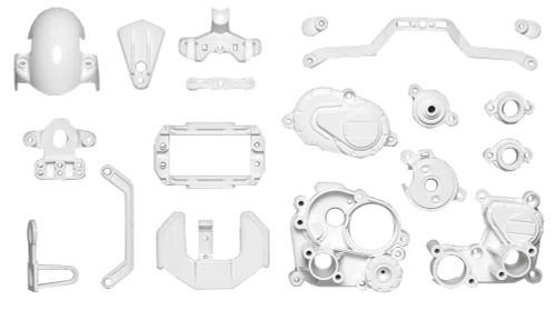 Tamiya 54915 (OP1915) T3-01 A Parts Gear Box White
