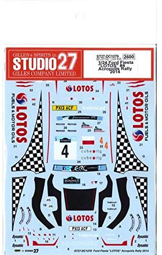 Studio27 ST27-DC1079 Ford Fiesta Lotos #4 Acropolis Rally 2014 Decals for Belkits 1/24 (11354)