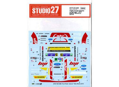 Studio27 ST27-DC1085 Ford Fiesta Jipocar #21 Rally Mexico 2014 Decals for Belkits 1/24 (11460)