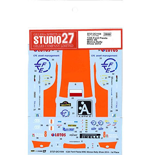 Studio27 ST27-DC1104 Ford Fiesta WRC Lotos #8 Monza Rally Show 2014 Decals for Belkits 1/24 (12054)