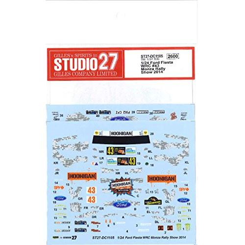 Studio27 ST27-DC1105 Ford Fiesta WRC Monster #43 Monza Rally Show 2014 Decals for Belkits 1/24 (12061)