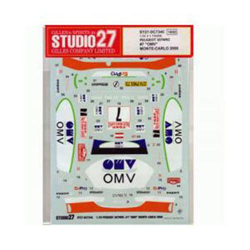 Studio27 ST27-DC734C Peugeot 307 WRC #7 OMV Monte Carlo '06 Decals 1/24 (07348)