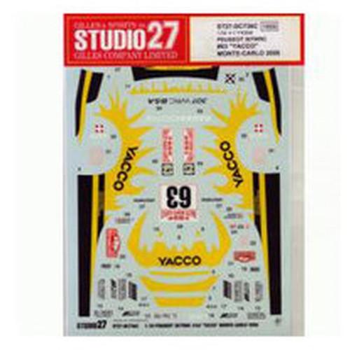 Studio27 ST27-DC736C Peugeot 307 WRC #63 Yacco Monte Carlo '06 Decals 1/24 (07362)