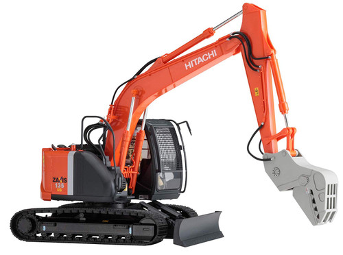 Hasegawa 661035 HITACHI CONSTRUCTION MACHINERY EXCAVATOR ZAXIS 135US CRUSHER VER 1/35 Scale Kit