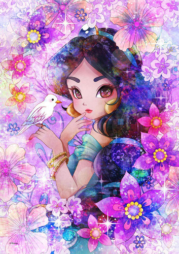 Tenyo Japan Pure White Jigsaw Puzzle DPG266-577 Disney Aladdin Jasmine Glamorous Eyes (266 Pieces)