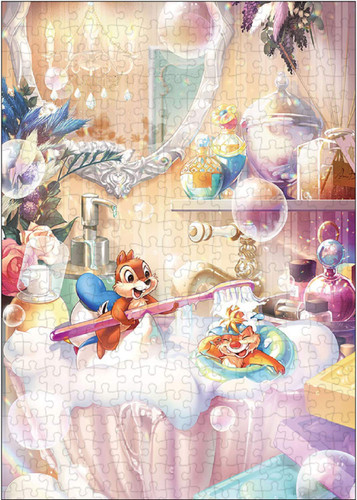 Tenyo Japan Jigsaw Puzzle D300-015 Disney Chip and Dale's Fun Bath Time (300 Pieces)