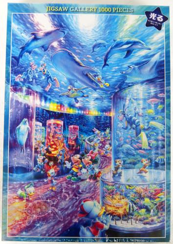Tenyo Japan Jigsaw Puzzle D1000-029 Glows in the Dark Disney Night Aquarium (1000 Pieces)