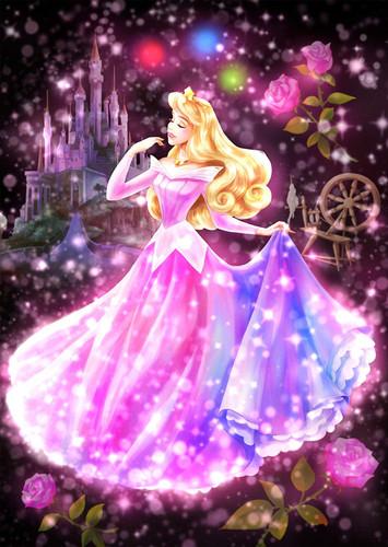Tenyo Japan Jigsaw Puzzle DSG266-965 Disney Sleeping Beauty Aurora (266 Pieces)