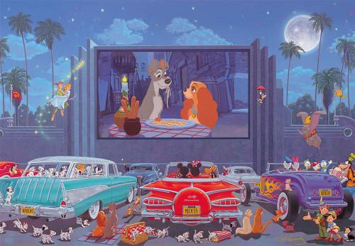 Tenyo Japan Jigsaw Puzzle D1000-058 Manuel Hernandez Disney Night at the Movie (1000 Pieces)