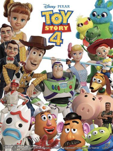 Tenyo Japan Jigsaw Puzzle DD48-572 Toy Story4 (Double Sides) (48 Pieces)