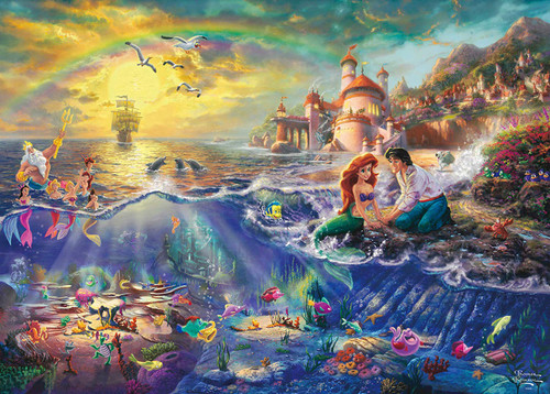 Tenyo Japan Jigsaw Puzzle D-2000-626 Glow in the Dark Thomas Kinkade Disney The Little Mermaid (2000 Pieces)