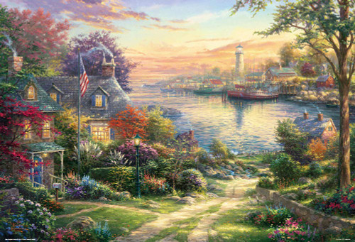 Beverly Jigsaw Puzzle 31-491 Thomas Kinkade New England Harbor (1000 Pieces)
