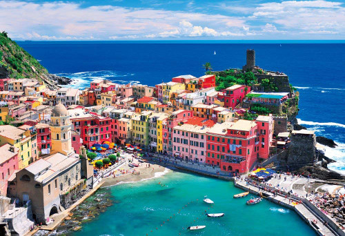 Beverly Jigsaw Puzzle M81-864  Cinque Terre's Blue Ocean (1000 S-Pieces)