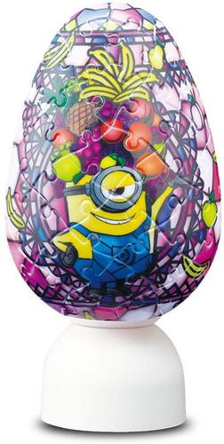 Yanoman 3D LED Egg Lantern Puzzle 2202-32 Disney Minions Fruits Monster (80 Pieces)