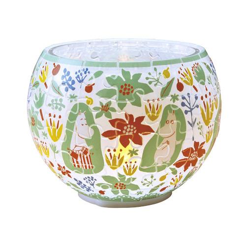 Yanoman 3D LED Lamp Shade Puzzle 2201-27 Moomin Bloom (80 Pieces)