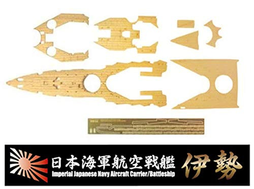 Fujimi Model Ship No.3 EX-102 IJN IJN AIRCRAFT CRUISER ISE WOODEN DECK STICKERS(w/Name Plate) 1/350 Scale