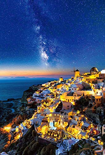Beverly Jigsaw Puzzle 51-260 Starry Sky in Santorini (1000 Pieces)