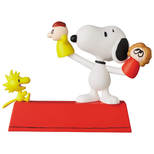 Medicom UDF-546 Ultra Detail Figure Peanuts Series 11 Puppet Snoopy and Woodstock