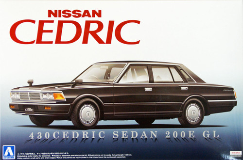 Aoshima 07808 Nissan 430 Cedric Sedan 200E GL 1/24 Scale Kit