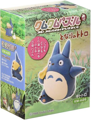 Ensky 3D Jigsaw Puzzle KM-m26 Studio Ghibli My Neighbor Totoro Blue Totoro Mini Size (11 Pieces)