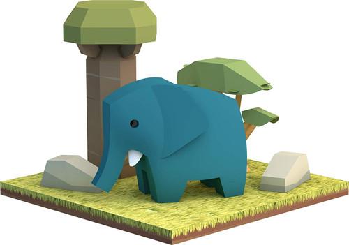 HALFTOYS HA004 Animal World Elephant
