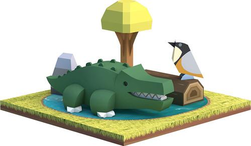 HALFTOYS HA006 Animal World Crocodile