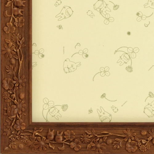 Ensky Jigsaw Puzzle Frame Brown for Studio Ghibli Jigsaw 108 Pieces (18.2 x 25.7)