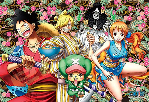 Ensky Art Crystal Jigsaw Puzzle 300-AC043 Japanese Anime One Piece Wano Country and Luffy (300 Pieces)