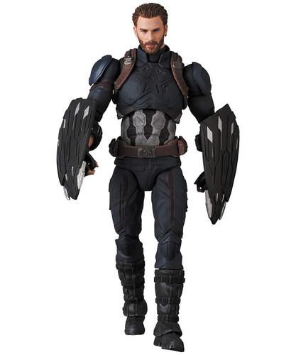 Medicom MAFEX 122 Captain America Figure (Avengers: Infinity War)