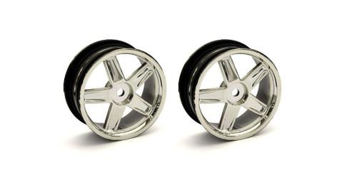 Kyosho VZH010CM Wheel (5-Spoke/Plating/24mm/2pcs)