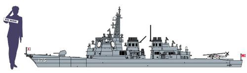 Hasegawa 522527 SP452 JMSDF DEFENSE DESTROYER MYOKO W/ FEMALE FIGURE 1/700 Scale Kit