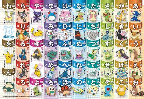 Beverly Jigsaw Puzzle 80-019 Pokemon AIUEO Japanese Hiragana Chart (80 L-Pieces)