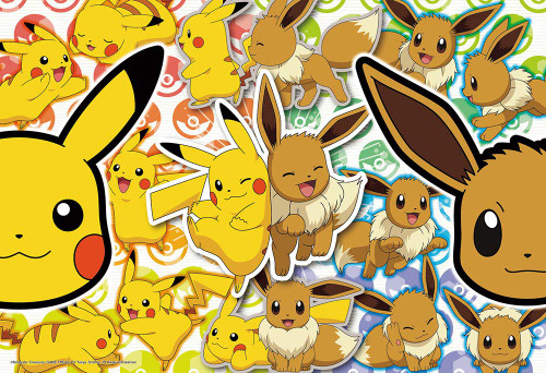 Beverly Jigsaw Puzzle 80-018 Pokemon Many Pikachu & Eevee (80 L-Pieces)