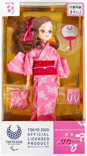 Takara Tomy Licca Yukata Doll Tokyo 2020 Paralympic Emblem (134268)