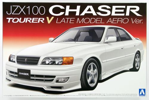Aoshima 09659 JZX100 Chaser Tourer V Late Model Aero Version 1/24 Scale Kit