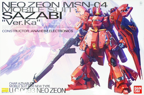 Bandai MG 851352 Gundam Neo Zeon MSN-04 Sazabi Version Ka 1/100 Scale Kit