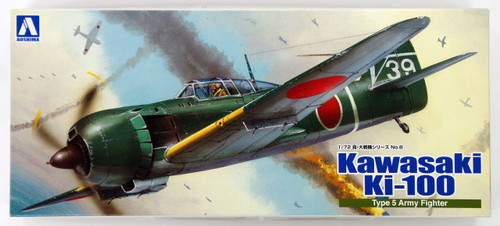 Aoshima 08126 Kawasaki Ki-100 Type 5 Army Fighter 1/72 Scale Kit