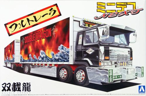 Aoshima 08348 Mini Decoration Truck Next No. 12 Double Dragon 1/64 Scale Kit